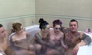 Breeding Hawt Tub Teen Orgy
