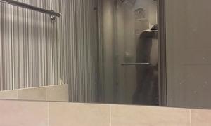 Hotel Shower head interracial asian teen black head careful brutes blowjob handjob