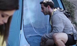 Legal age teenager cheating on boyfriend on camping trip