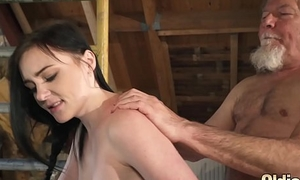 Papa puts his load of shit inside two sexy young puberty