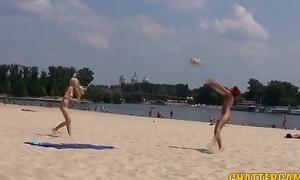 Adorable Teen Nudists Run aground Playtime