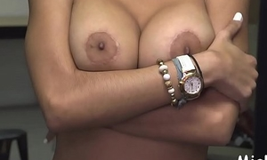 Breasty arab soul mate enjoys pussy-licking