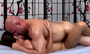 Dillion Porter Gives Sexy Erotic Oil Massage   Carnal knowledge with the addition of Blowjob