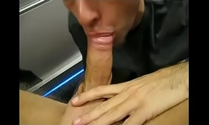 Daddy Sucks Above-board Younger Guy'_s Cock and Gulps Cum in POV
