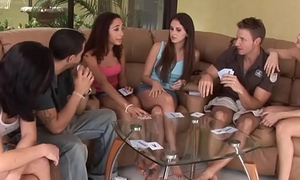 Orgy teens pussylicking and cockblowing