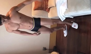 Well-muscled College Jock On touching Lend substance And Juicy Horseshit