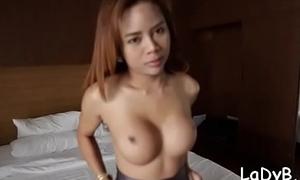 Sassy thai t-girl screwed hard