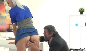 Lovable schoolgirl was seduced increased away from team-fucked away from her patriarch mentor
