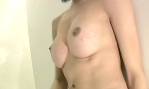 Leaked Energetic video be expeditious for Brobdingnagian frosted thin tgirl sucking in POV