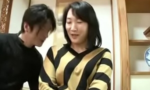 Grown-up Asian Japanese Mom Squirts Coupled with gets Creampie