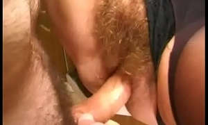 Granny Acquires Her Muted Pussy Stuffed In Hammer away Kitchen