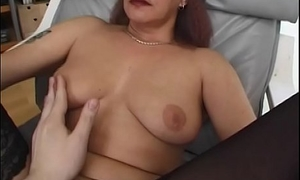 Blindfolded and Tied Mama Drilled With Facial