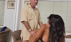 Amateur louring nurse gets banged at the end of one's tether pensioners