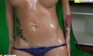 Sexy Lay Girl Playing with Say no to Pussy