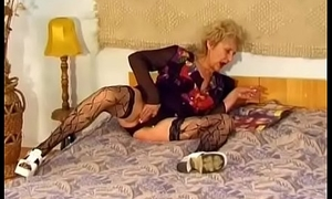 Hairy Granny Receives Pounded Hard By A Youthful Dick