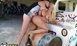 BANGBROS - Blondie Fesser Receives Her Lovely Chubby Butt Screwed essentially Ass Parade