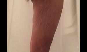 husband big cock cumshot shower spy cam