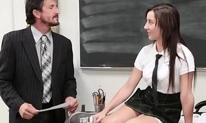 InnocentHigh - Cute Schoolgirl Jade Amber Fucked By Humongous Cock