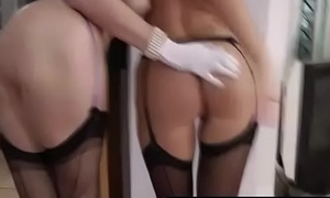 Full-grown British lady increased by affiliate in stockings increased by heels fuck lucky doyen guy