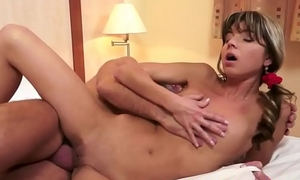 Russian micro babe screwed by a senior
