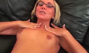 Glasses Blonde Teen BBC Big Cock Ache