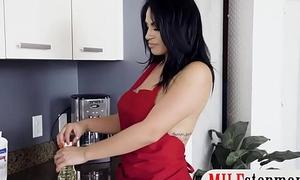 Horny guy fucks his girlfriend added to busty stepmom