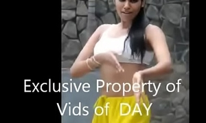 Downcast Indian Spread out dancing in sports bra