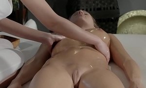 Massage Rooms Young perfect bodied lesbians lick drag inflate with an increment of fuck
