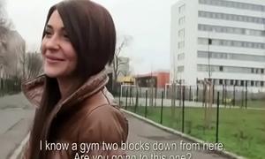 Public Blowjob For Horny Tousrist Wean away from Euro Teen Slut 03