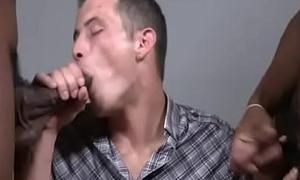 White Chap-fallen Well-pleased Teen Boy Worships Big Black Cock 23