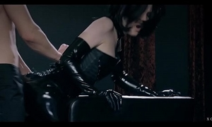 xCHIMERA - Glamorous Czech tot Anie Darling dresses in latex added to dominates guy