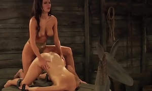The Submissive: Big Natural Boobs Bouncing Not later than Strap-on Sex