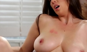 Well-endowed mummy pussylicking lovely stepdaughter