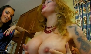 Aunt Darlyne strapon replica penetration and hawt assfuck sex