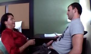 Busty Teacher Angelica Sin Craftsmanship Innocent Boy Come by Sex, Makes Him Cum Twice