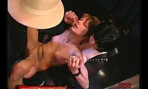 Busty Mistress takes her Skinny Slave thither the fuck Arena - GGG Devot