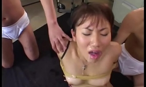Japanese Teen tied and familiar painless Cum Bucket - Japanese Bukkake Orgy
