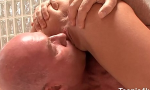 Yummy racy prostitute cooter gets Little Teen hole drilled hard