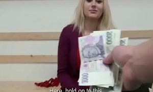 Public Lady-love WIth Dilettante Legal age teenager Euro Battle-axe For Cash 05