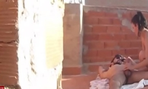A voyeur puts a spy cam for chronicling the juvenile couple fucking ADR0490