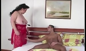 Fat gipsy woman on youthful dick
