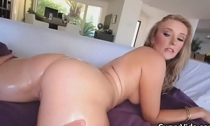 Downcast oiled PAWG pounded right