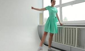 Alla Sinichka being sexy while dressed