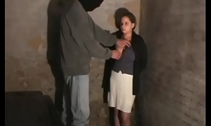 Total slavery scenery with cute teen getting manhandled